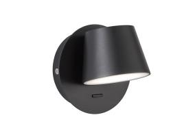 Sieninis šviestuvas MUG BLACK