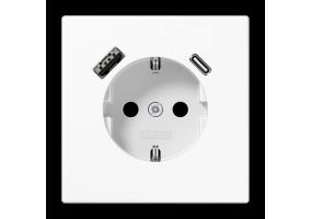 Kištukinis lizdas be rėmelio su USB LS1520-15CAWW