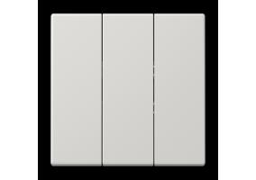 Klavišas trigubas be rėmelio LS993BFLG pilkas