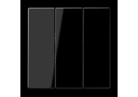 Klavišas trigubas be rėmelio LS993BFSW juodas