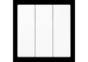 Klavišas trigubas be rėmelio LS993BFWW baltas