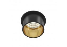 Įleidžiamas šviestuvas DL050-01GB REIF BLACK/GOLD