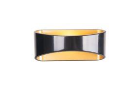 Sieninis šviestuvas HUGO black/gold