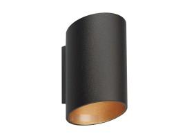 Sieninis šviestuvas SLICE WL BLACK