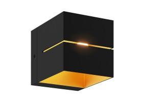 Sieninis šviestuvas TRANSFER WL 2 BLACK