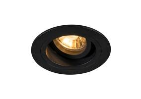 Įleidžiamas šviestuvas CHUCK DL ROUND BLACK 92700