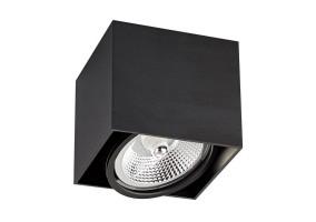 Akcentinis/lubinis šviestuvas BOX 1 BLACK