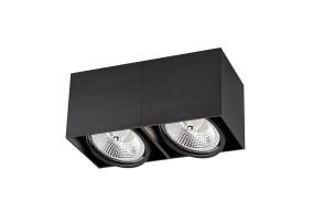 Akcentinis/lubinis šviestuvas BOX 2 BLACK