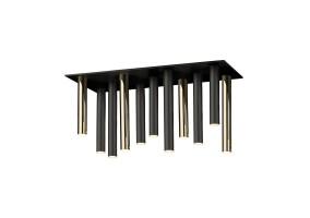 Lubinis šviestuvas LOYA 11 MATT BLACK/ FRENCH GOLD