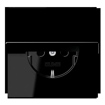 Kištukinis lizdas su dangteliu be rėmelio LS1520KLSW juodas
