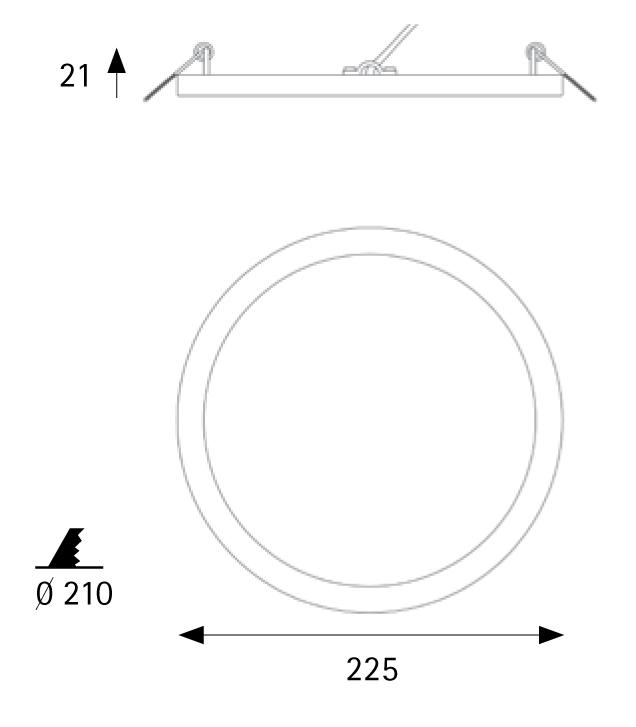 Įleidžiamas šviestuvas NARROW WHITE 24W 3000K IP43