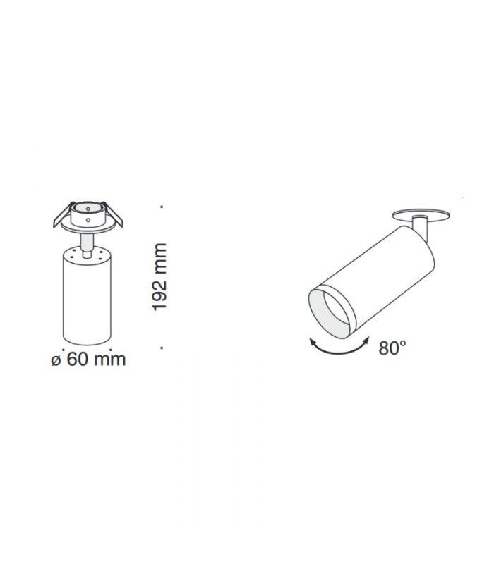 Akcentinis/lubinis šviestuvas FOCUS C018CL-01MG