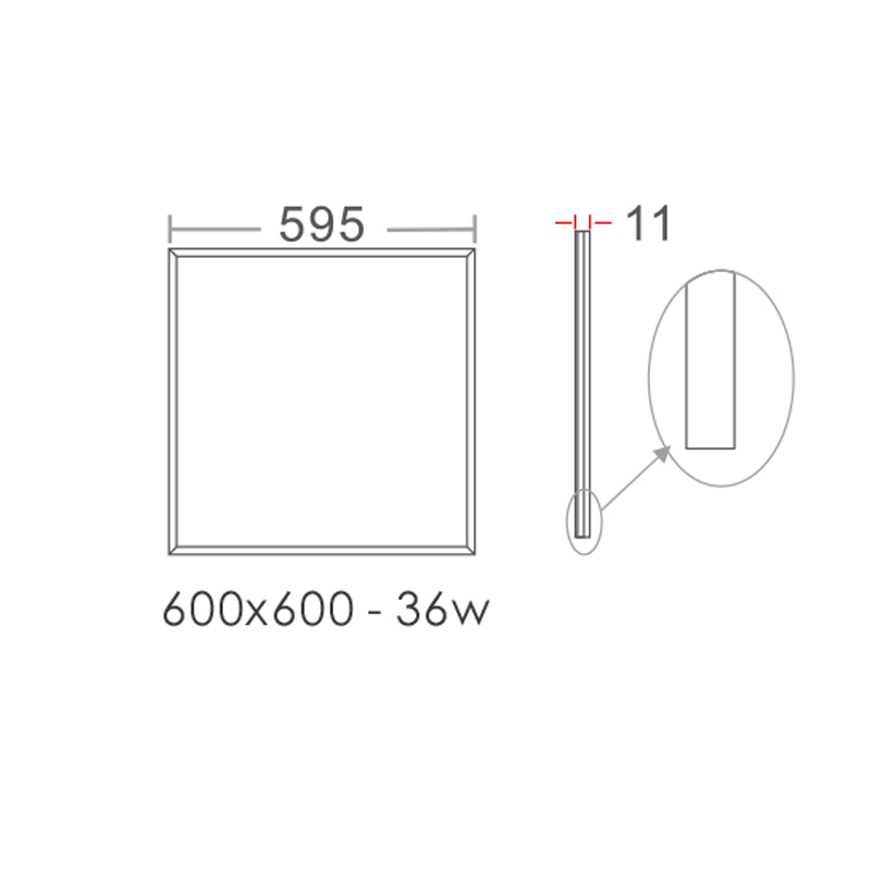 Įleidžiamas šviestuvas Anthena Basic Panel Light 36W