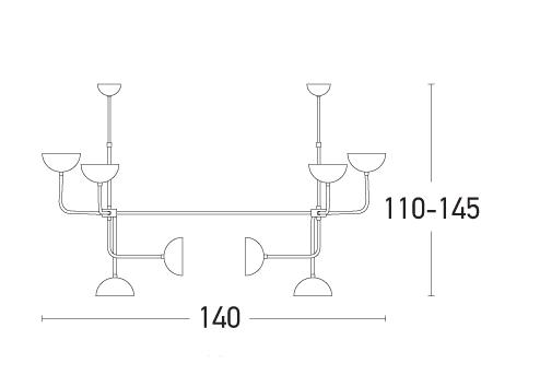 Pakabinamas šviestuvas 1622 8L