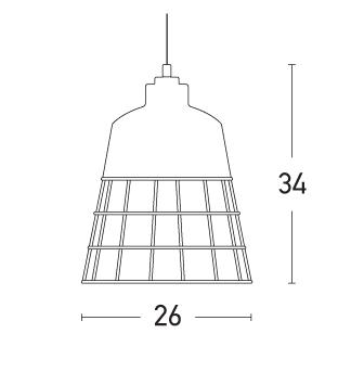 Pakabinamas šviestuvas 1689