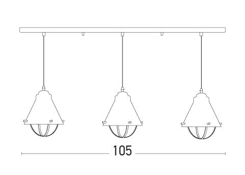 Pakabinamas šviestuvas 1694 3L