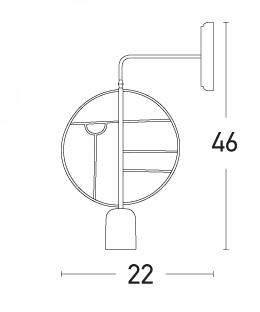 Sieninis šviestuvas 17030