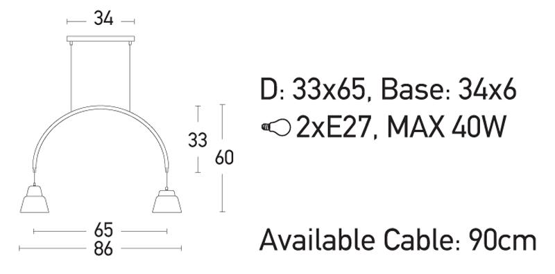 Pakabinamas šviestuvas 180063