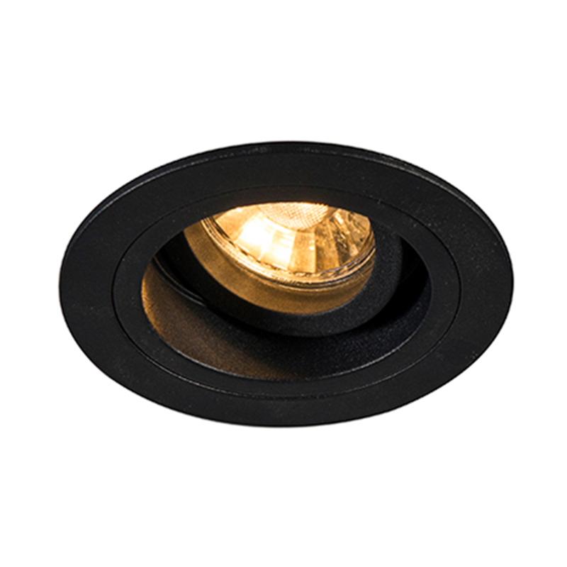 Įleidžiamas šviestuvas CHUCK DL ROUND BLACK 92699