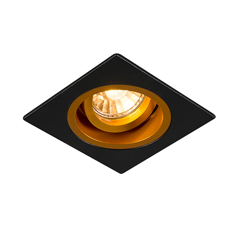 Įleidžiamas šviestuvas CHUCK DL SQUARE BLACK