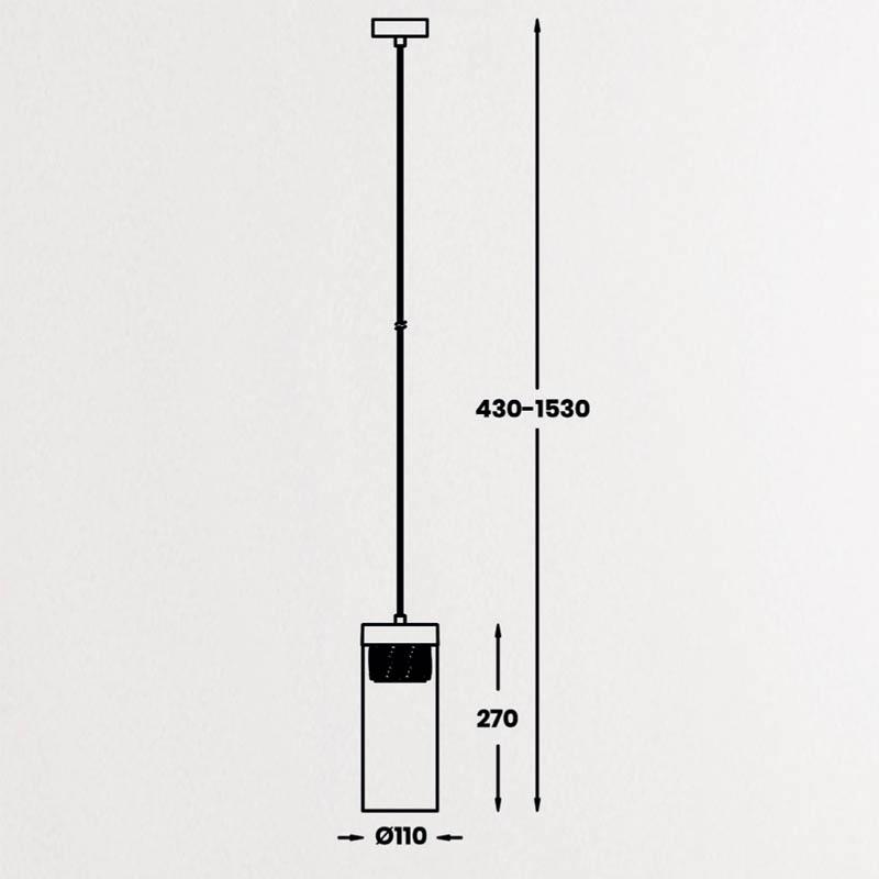 Pakabinamas šviestuvas GEM 1 chrome